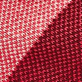 Recycled: knitted scarf with stripes, RED, swatch