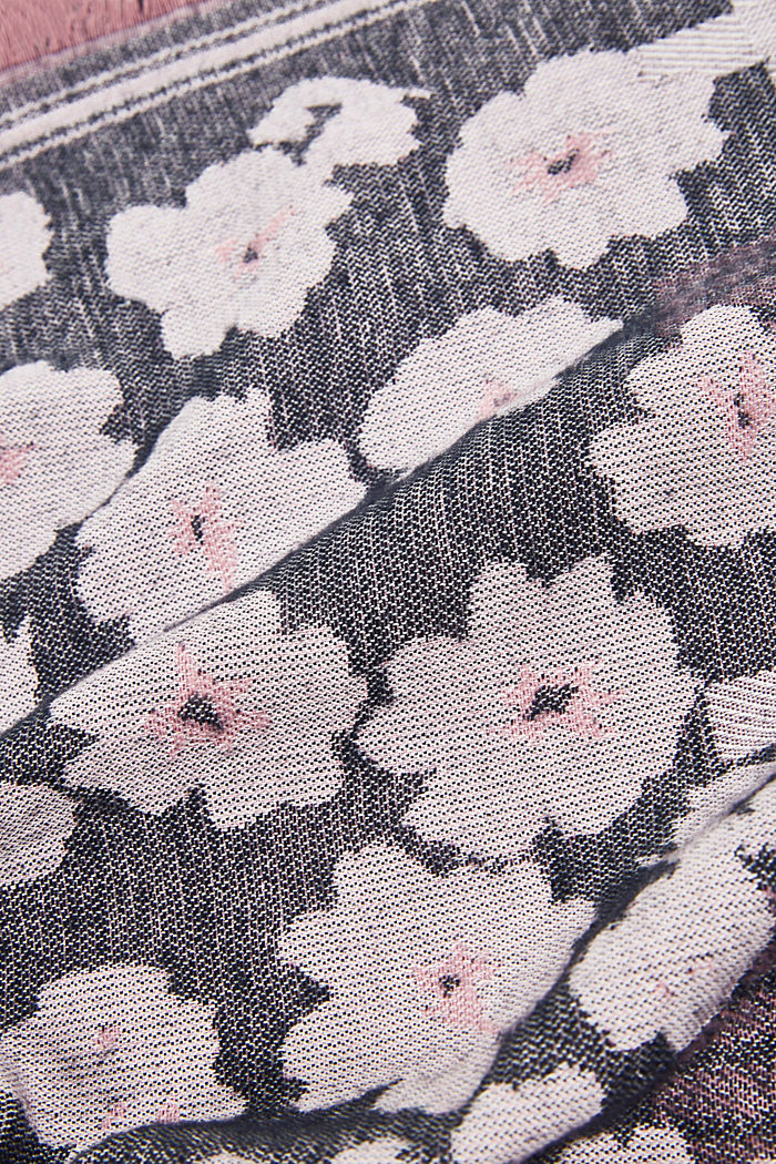 Woven scarf with LENZING™ ECOVERO™, BLACK, detail image number 2