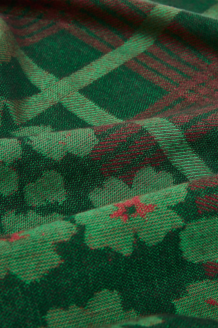 Woven scarf with LENZING™ ECOVERO™, DARK GREEN, detail image number 2