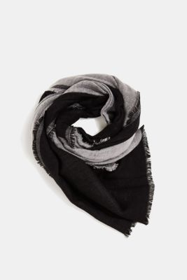 Scarf with LENZING™ ECOVERO™, BLACK, detail