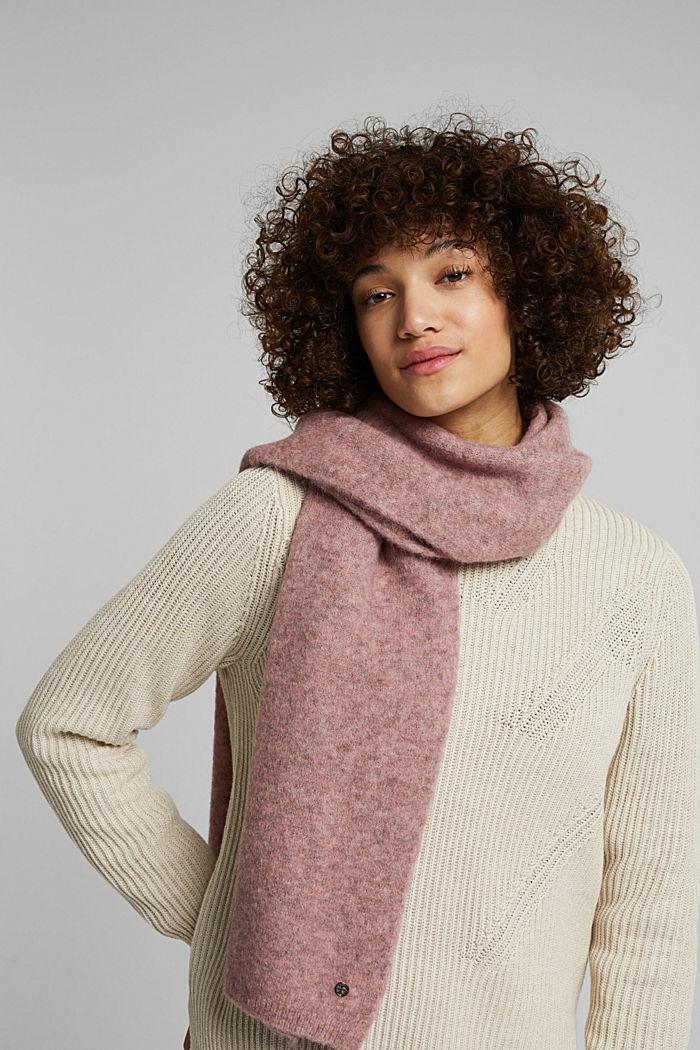 Mit Wolle: Schal aus Alpaka-Mix