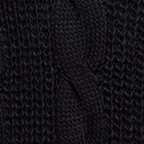 Knit poncho with alpaca, BLACK, swatch