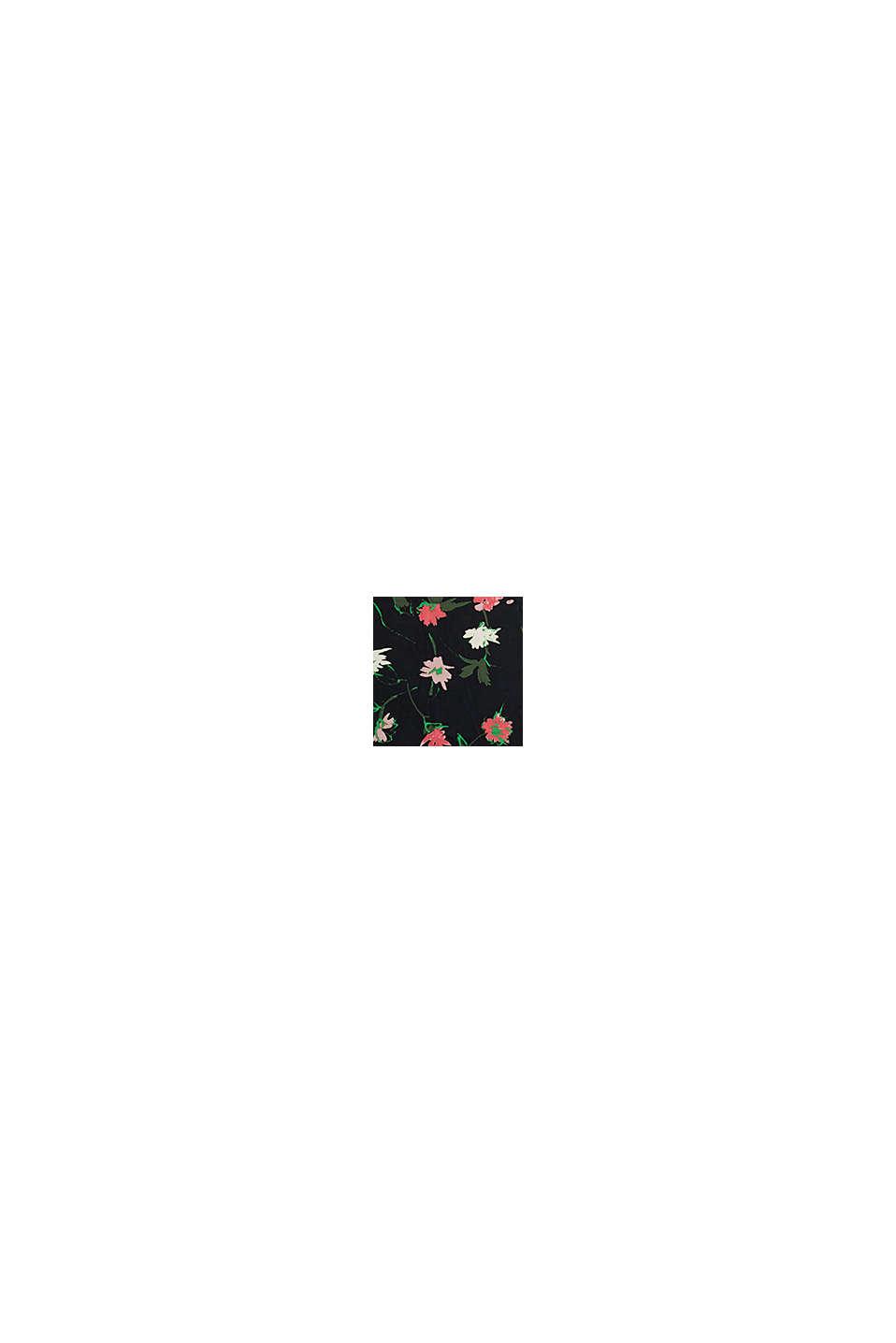 En matière recyclée: le foulard carré orné d´un motif à fleurs, BLACK, swatch