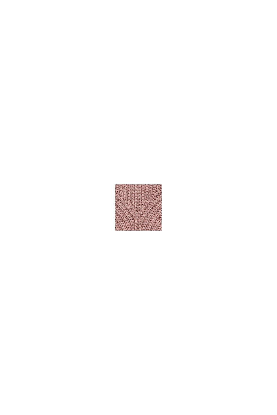 À teneur en laine/alpaga: poncho à col roulé, OLD PINK, swatch