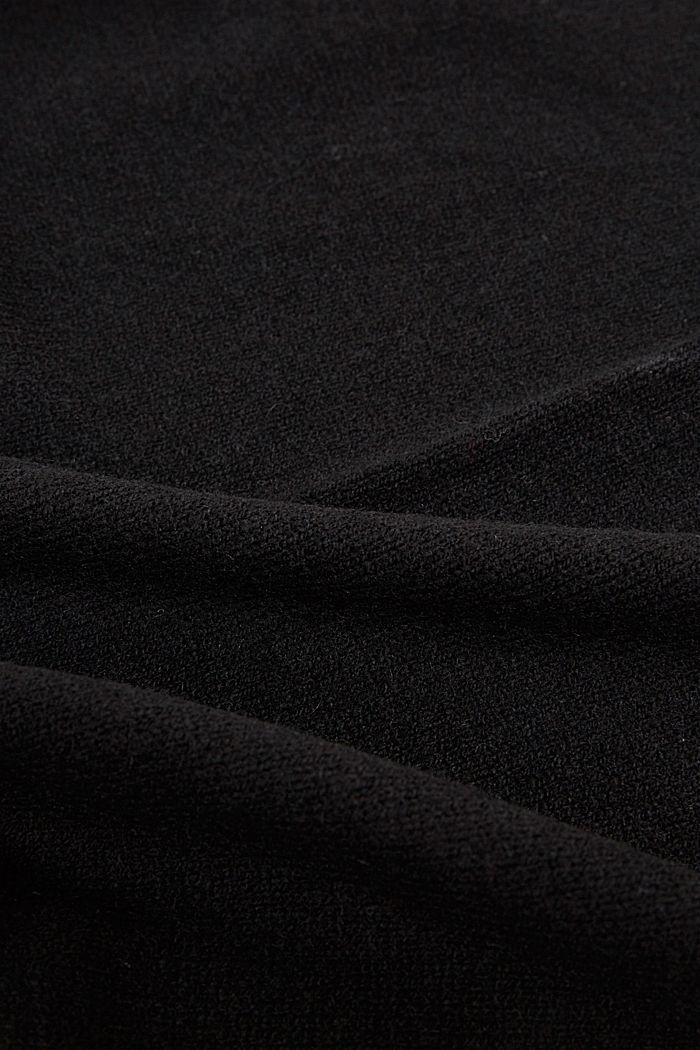Met kasjmier: sjaal van een wolmix, BLACK, detail image number 2