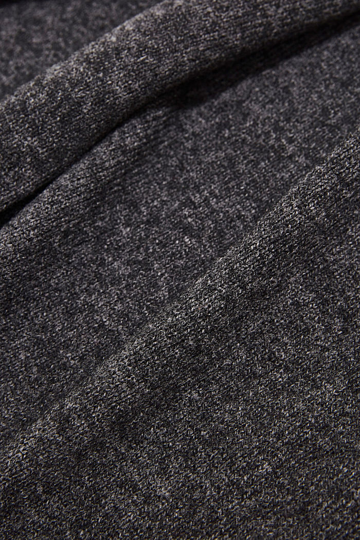 With cashmere: blended wool scarf, DARK GREY, detail image number 2