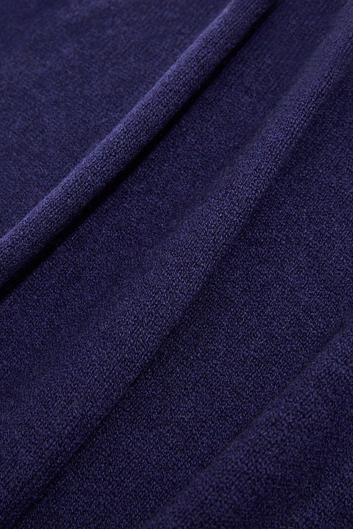 With cashmere: blended wool scarf, DARK BLUE, detail image number 2