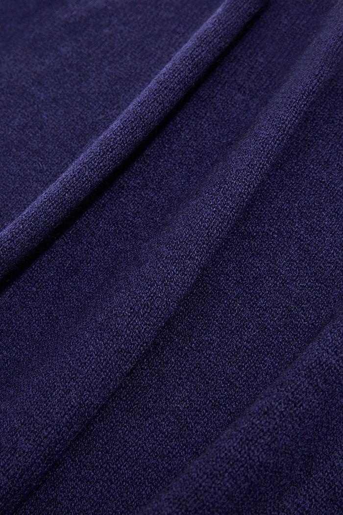À teneur en cachemire: l'écharpe en laine mélangée, DARK BLUE, detail image number 2