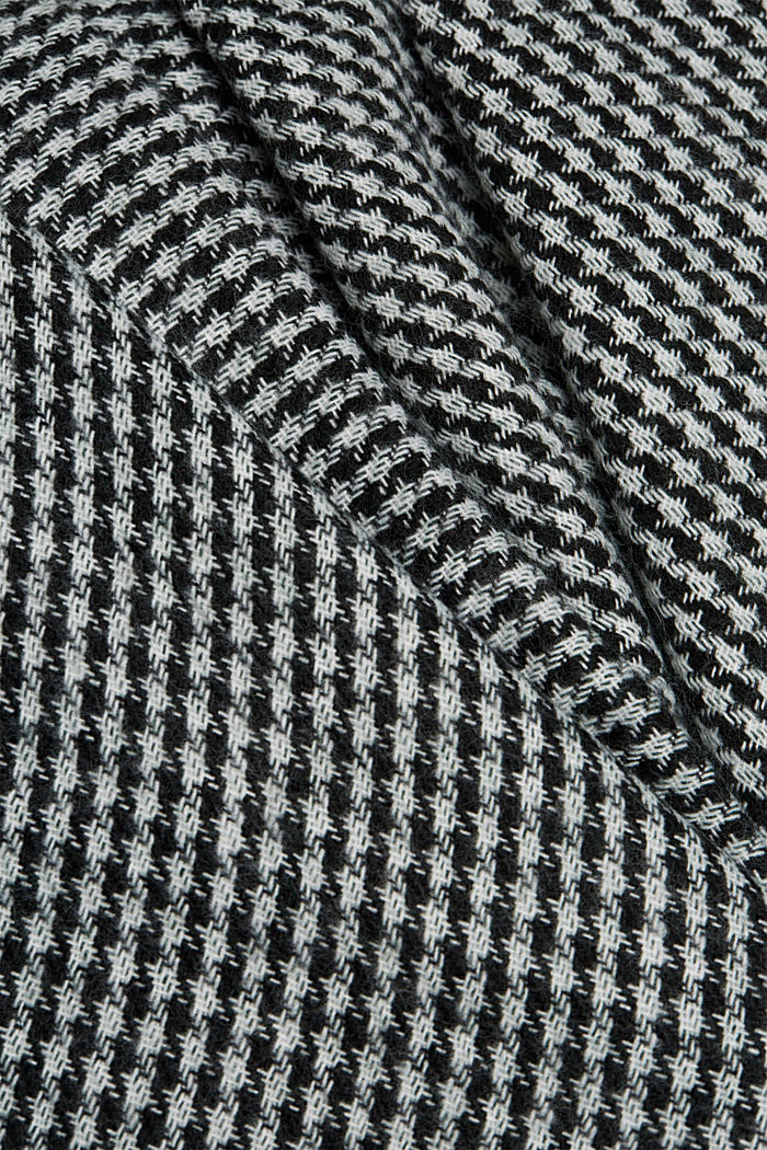 Prince of Wales check fringed poncho, BOTTLE GREEN, detail image number 2