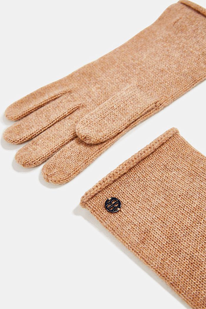 Gloves with cashmere, CAMEL, detail image number 1