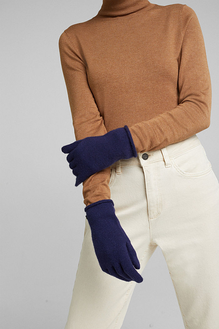 Gloves with cashmere