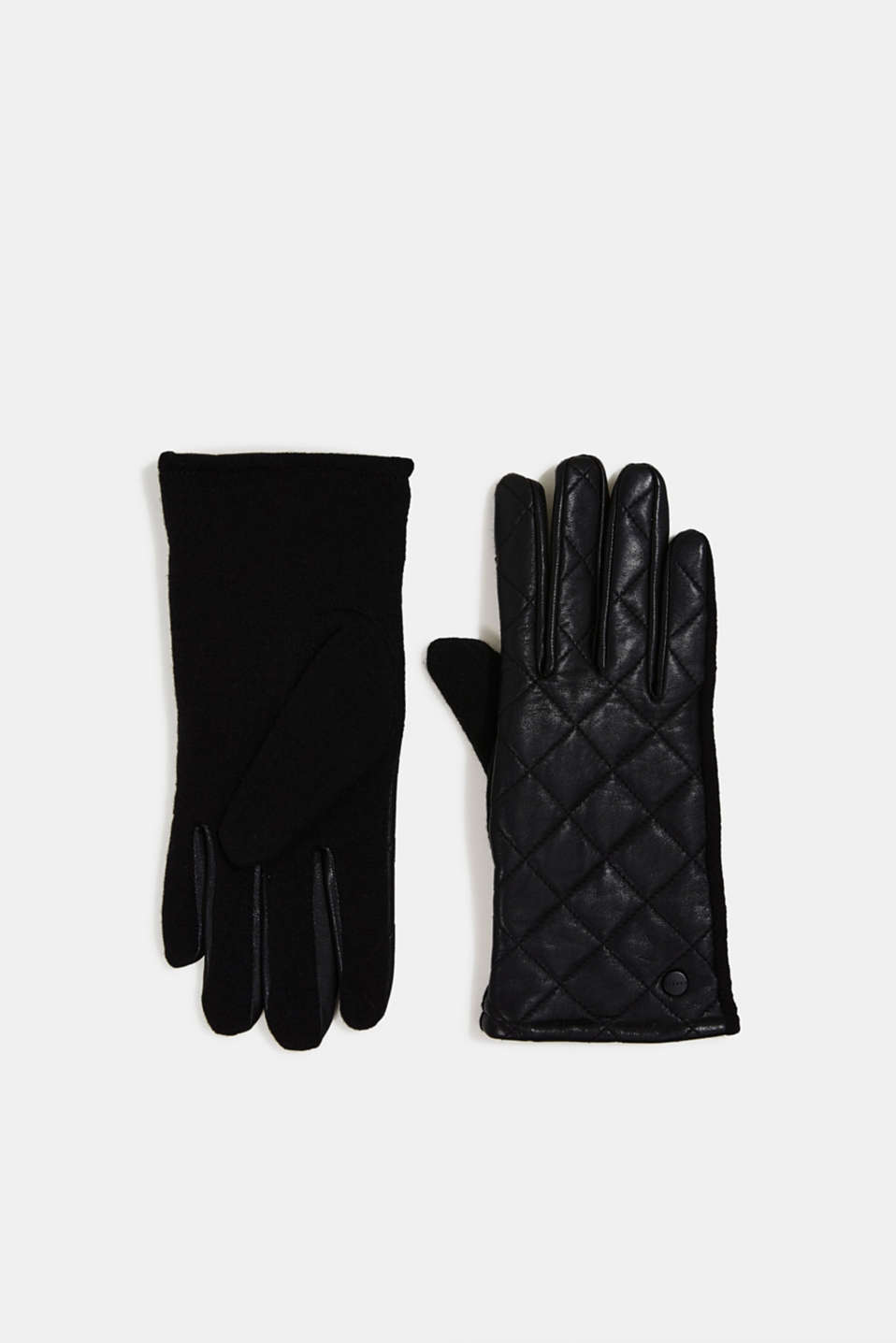 Esprit - Gloves made of lamb leather and blended wool
