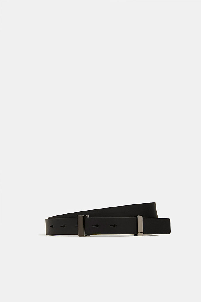 Belt made of chrome-free tanned leather, BLACK, detail image number 0