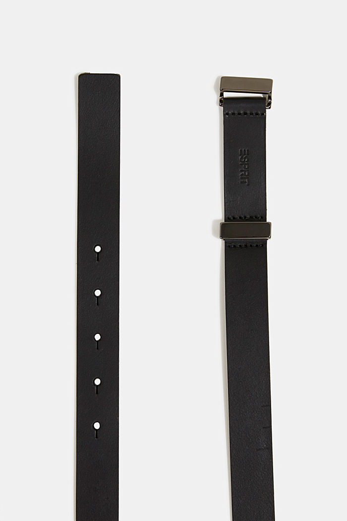 Belt made of chrome-free tanned leather, BLACK, detail image number 1