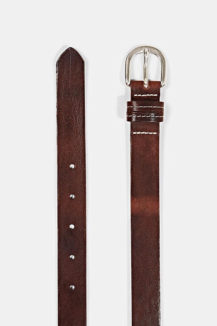 Narrow leather belt, BROWN, detail image number 1