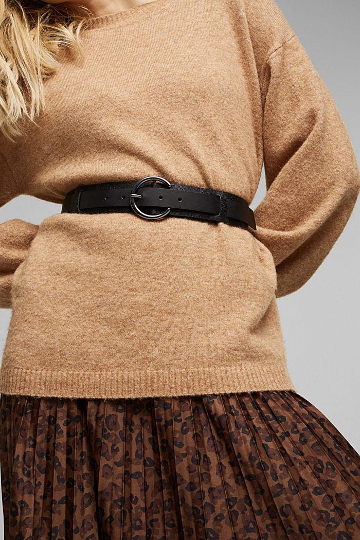 Cinturón en 100 % piel