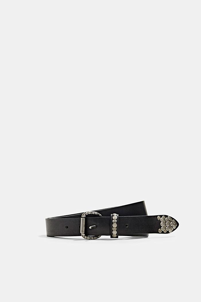 Cinturón de piel con detalles de tachuelas