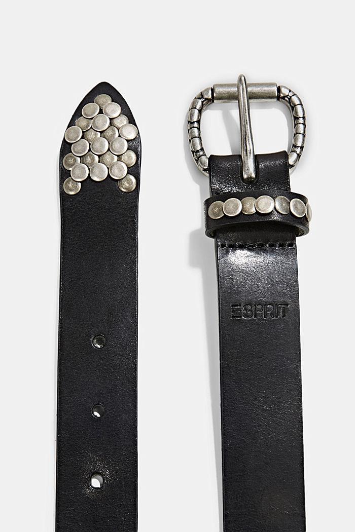 In pelle: cintura con dettagli a rivetti, BLACK, detail image number 1