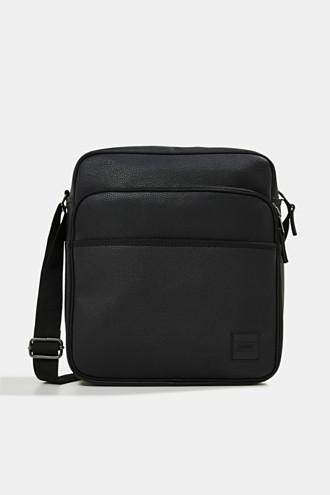 Vegan: faux leather flight bag