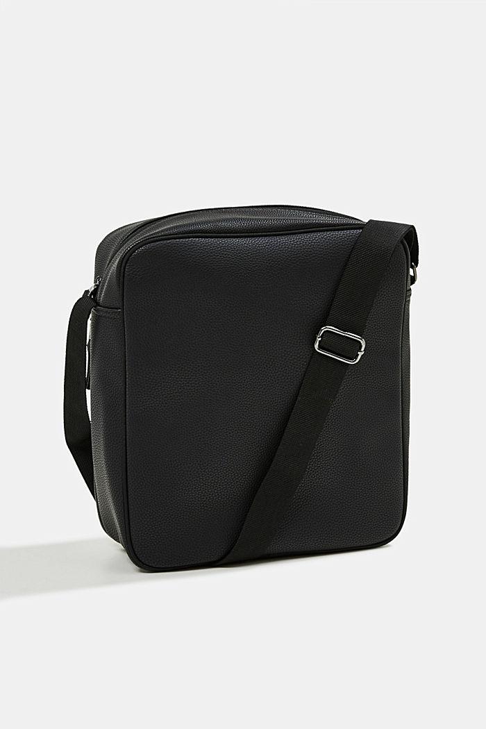 Vegan: Flug-Tasche in Leder-Optik, BLACK, detail image number 5