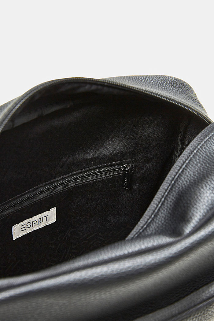 Vegan: faux leather flight bag, BLACK, detail image number 4