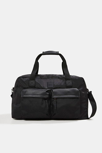 Weekender with faux leather details