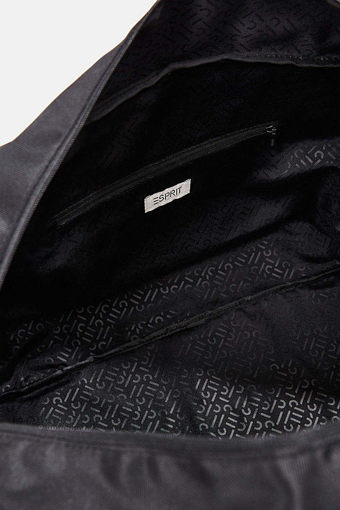 Weekender with faux leather details, BLACK, detail image number 4