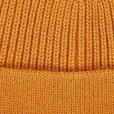 Beanie in 100% wool, BRASS YELLOW, swatch