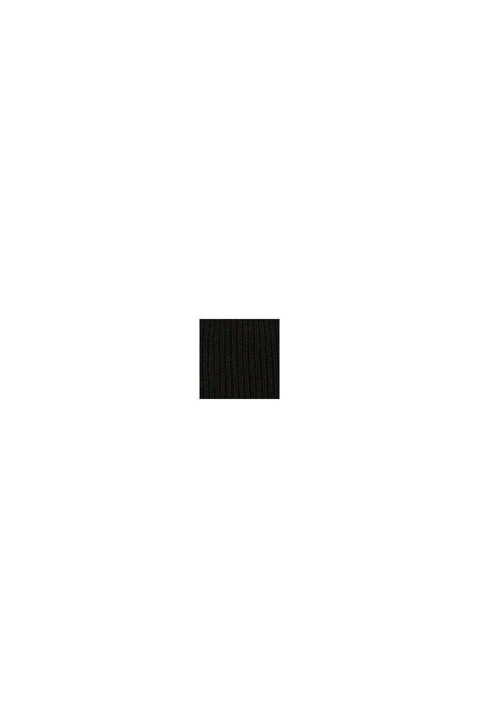 Beanie aus Kaschmir-Mix, BLACK, swatch