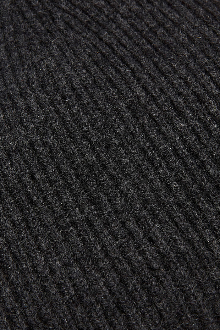 Beanie in a cashmere blend, DARK GREY, detail image number 1
