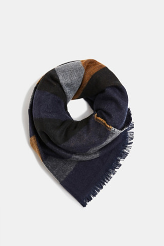 Recycled woven scarf with stripes