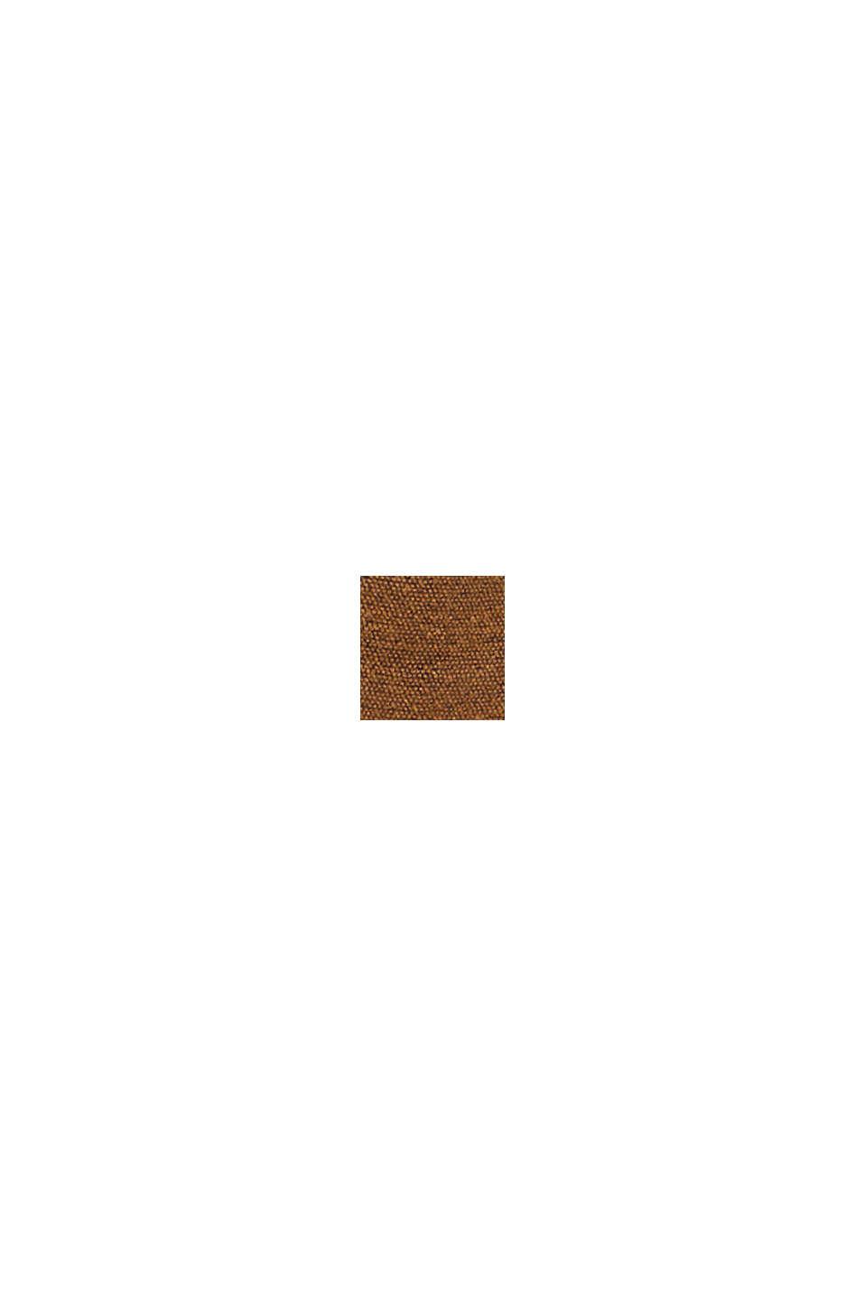 Recycelt: Web-Schal mit Streifen, TOFFEE, swatch