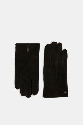 Suede gloves, BLACK, detail