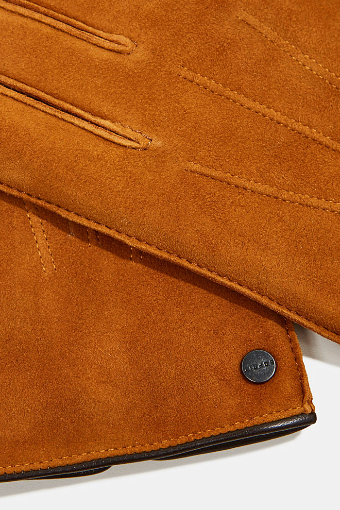 Suede gloves, CARAMEL, detail image number 1