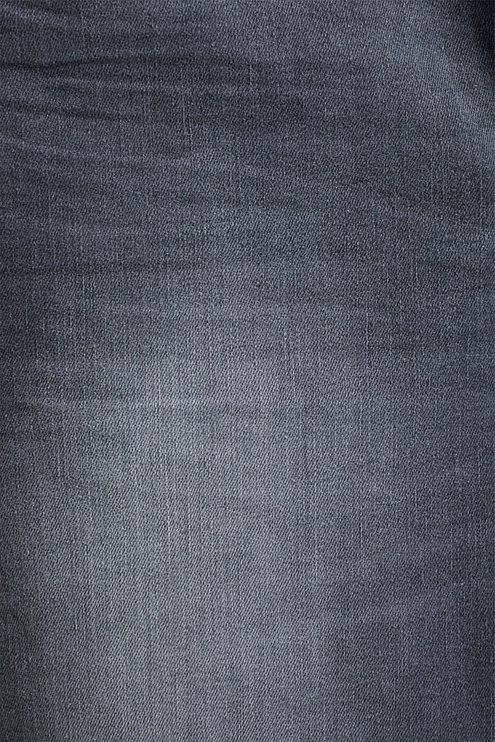 Stretch jeans in organic cotton, GREY DARK WASHED, detail image number 4