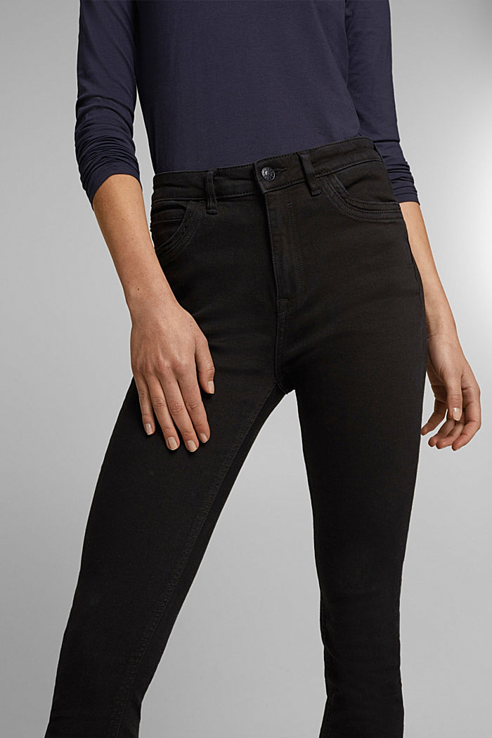 Jeans skinny in cotone biologico, BLACK RINSE, detail image number 2