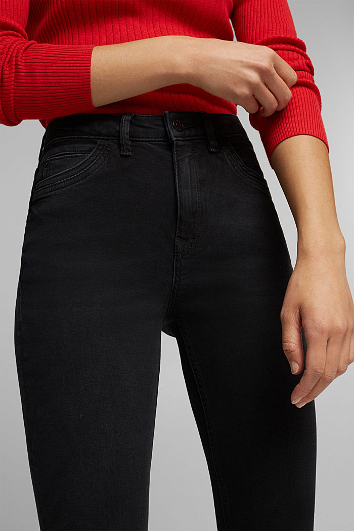 Skinny Jeans aus Organic Cotton, BLACK DARK WASHED, detail image number 2