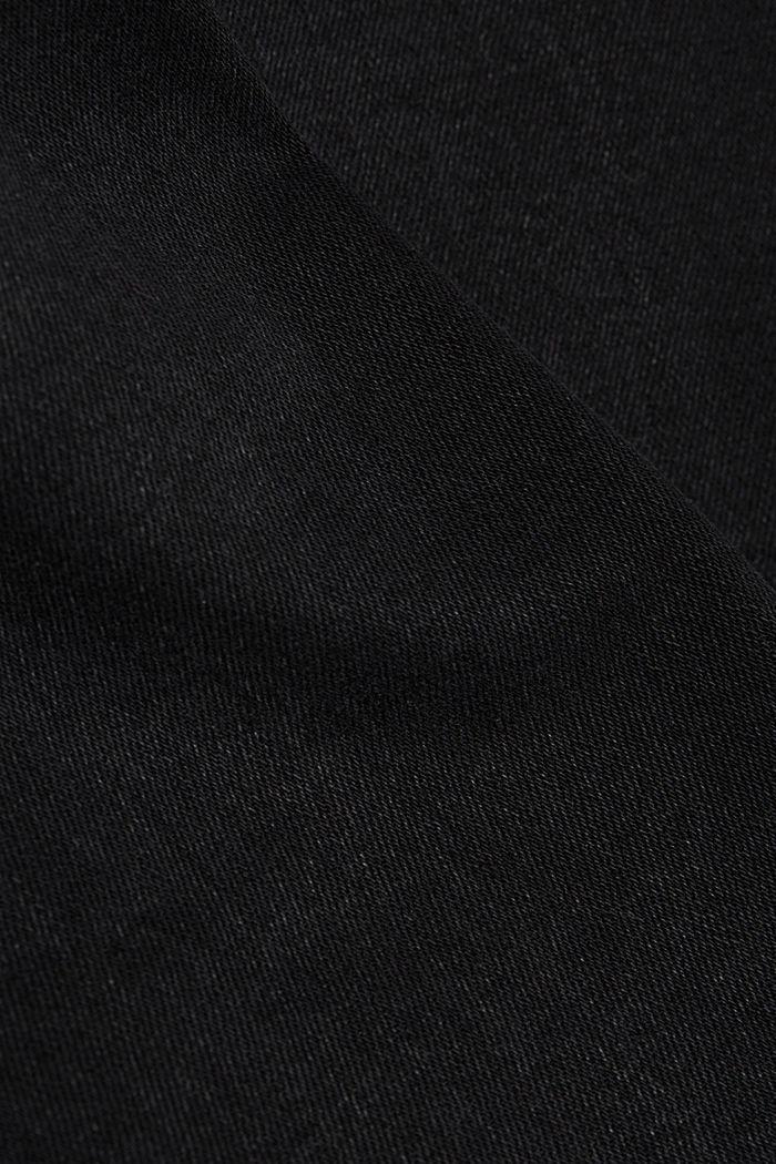 Skinny džíny z bio bavlny, BLACK DARK WASHED, detail image number 4