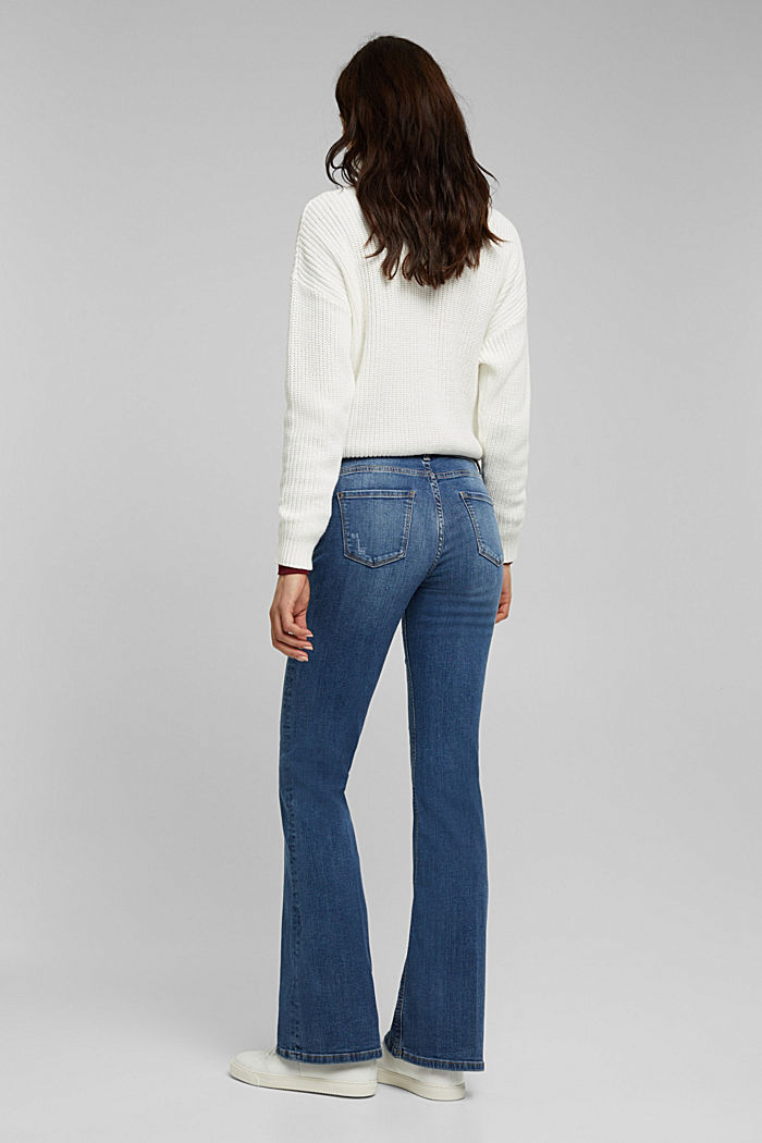 Flared Jeans aus Organic Cotton, BLUE MEDIUM WASHED, detail image number 3