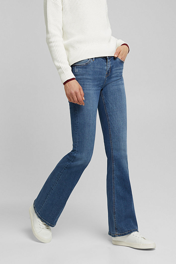 Organic cotton flared jeans