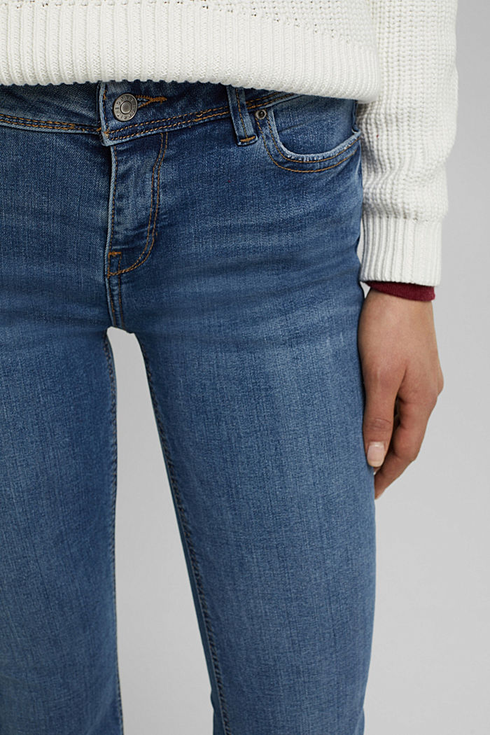 Flared Jeans aus Organic Cotton, BLUE MEDIUM WASHED, detail image number 2