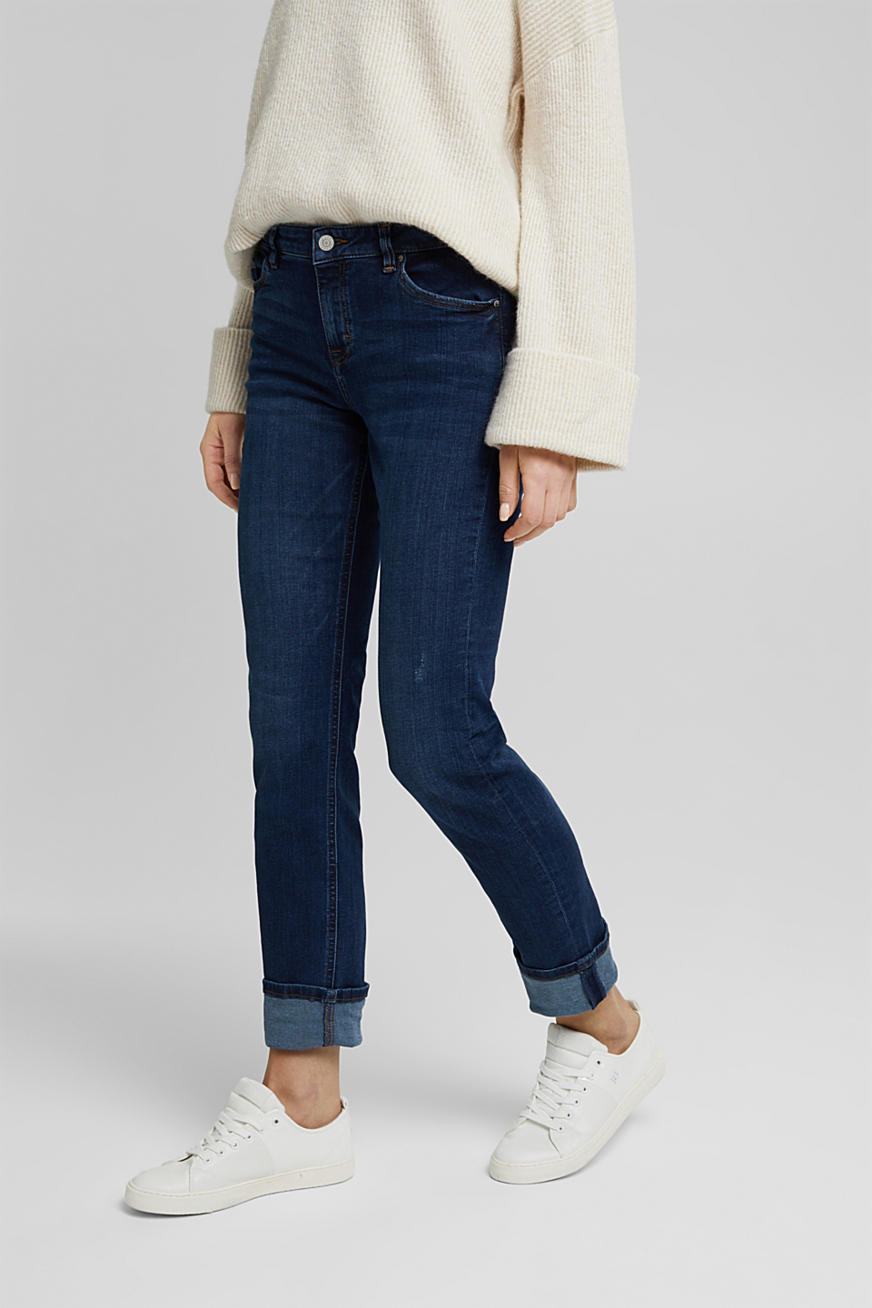 Jeans super stretch con cotone biologico