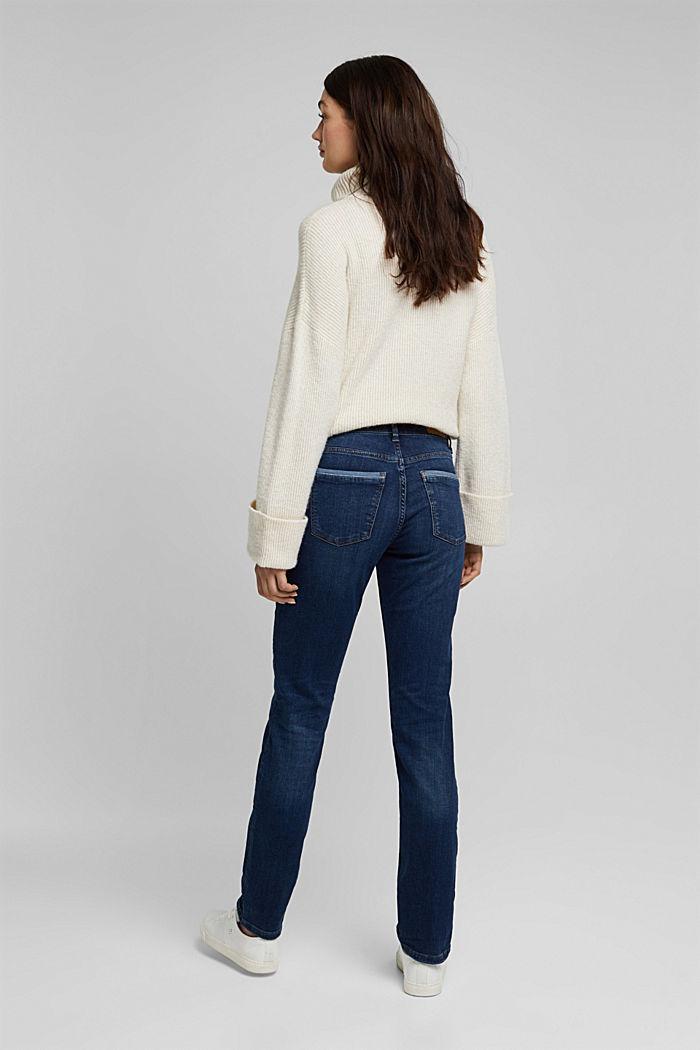 Jeans met veel stretch en biologisch katoen, BLUE DARK WASHED, detail image number 3