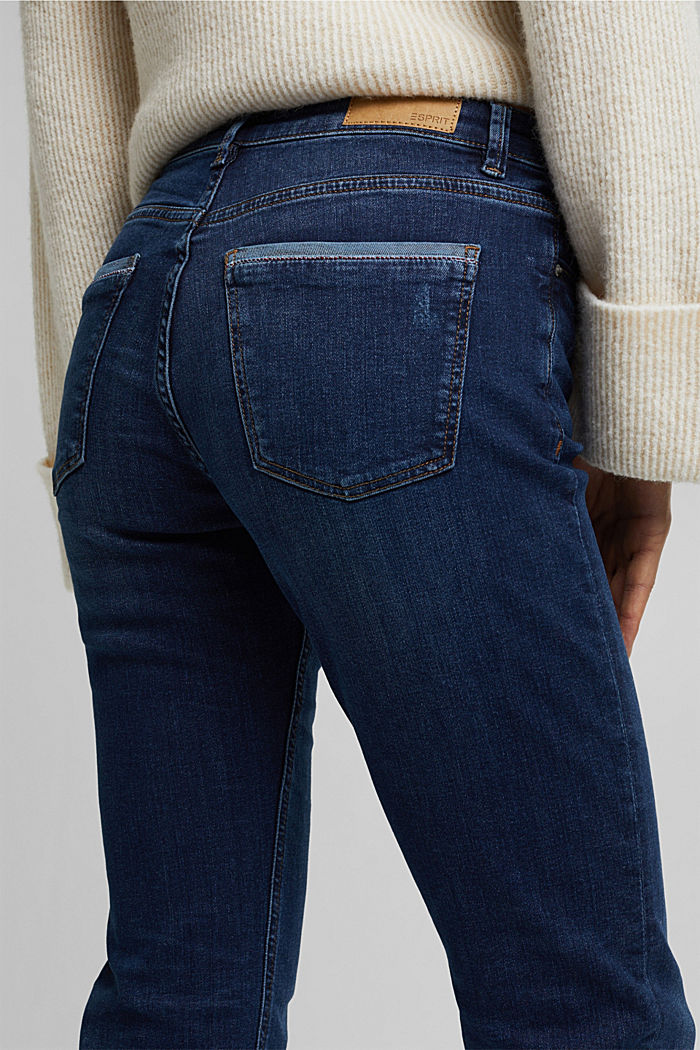 Jeans met veel stretch en biologisch katoen, BLUE DARK WASHED, detail image number 2