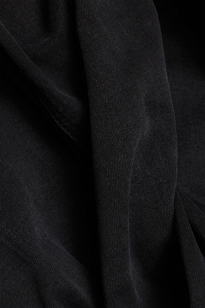 Organic cotton flared jeans, BLACK DARK WASHED, detail image number 4