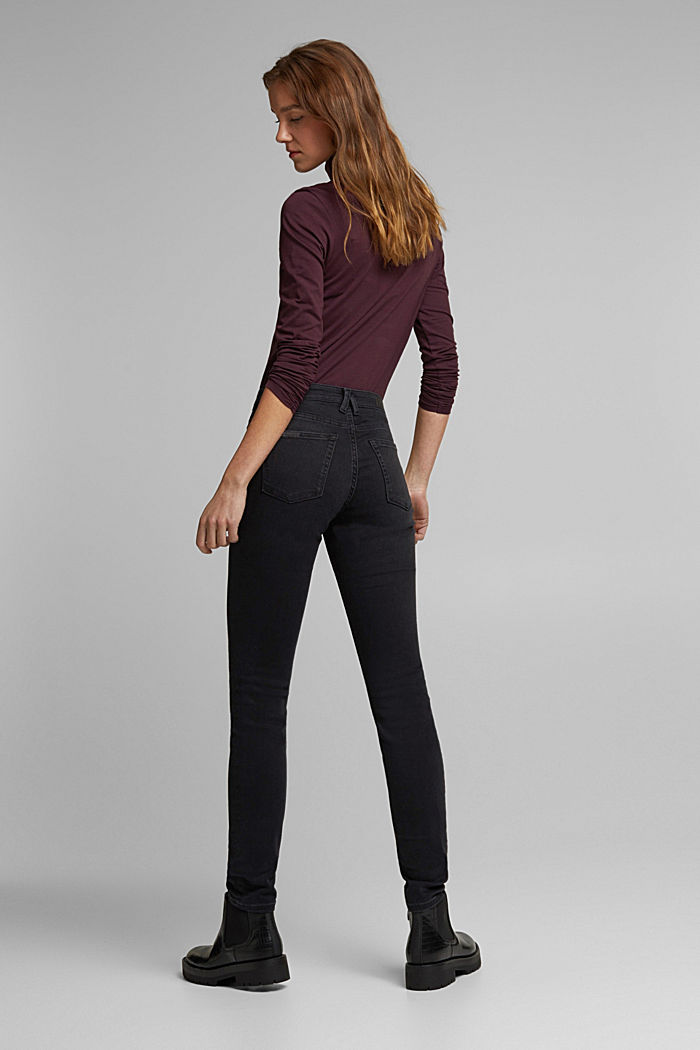Stretch jeans containing organic cotton, BLACK RINSE, detail image number 3