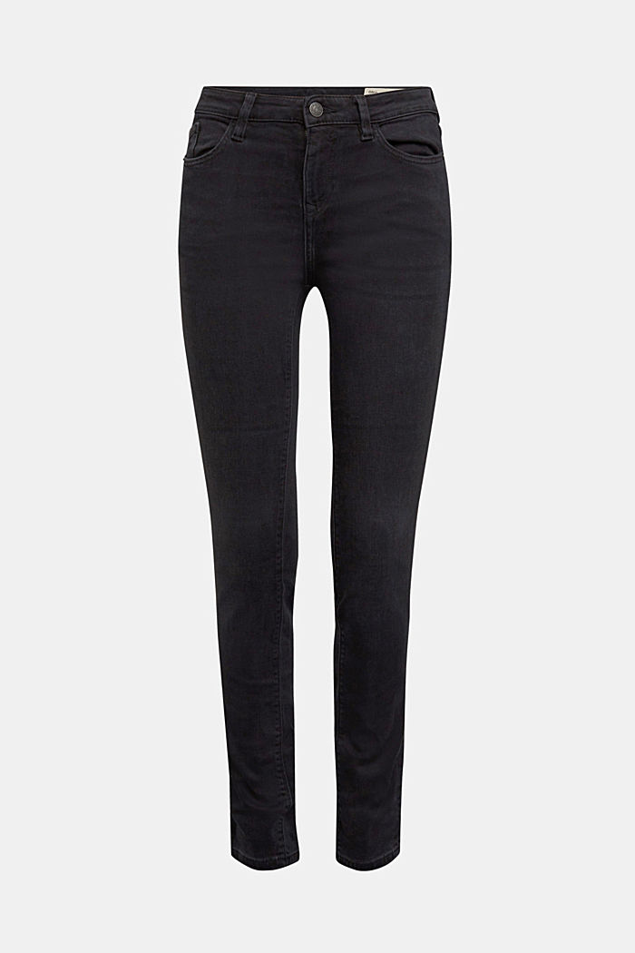 Stretch jeans containing organic cotton, BLACK RINSE, detail image number 6