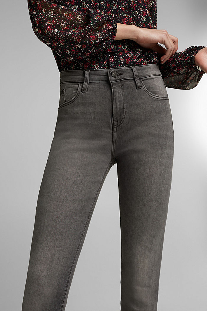 Stretch jeans containing organic cotton, GREY MEDIUM WASHED, detail image number 2