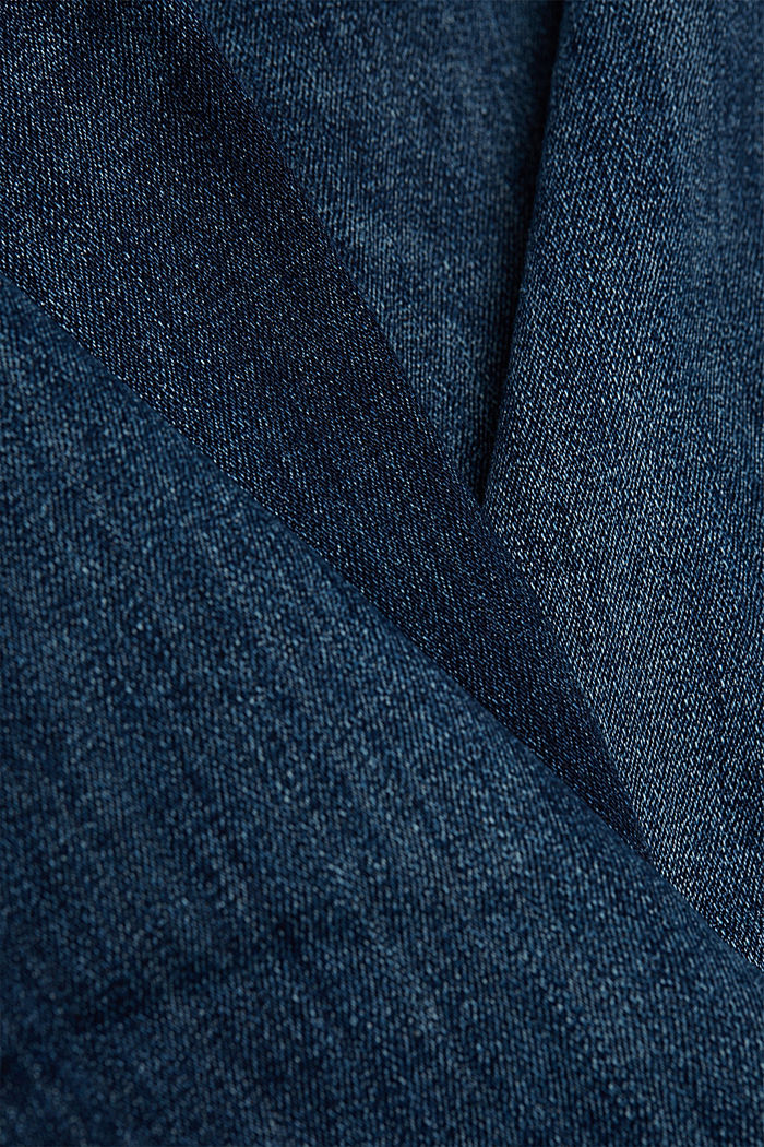 Stretch jeans with decorative stitching, BLUE DARK WASHED, detail image number 4