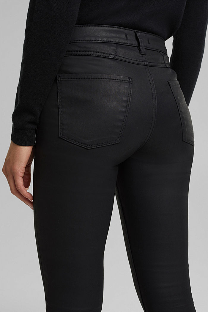 Coated jersey trousers, BLACK, detail image number 2